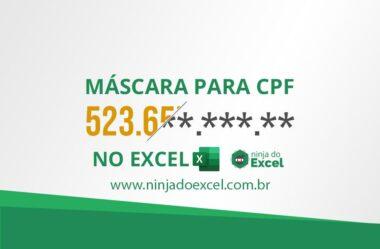 Máscara para CPF no Excel